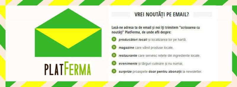 Newsletter PlatFerma, Noutăți pe email