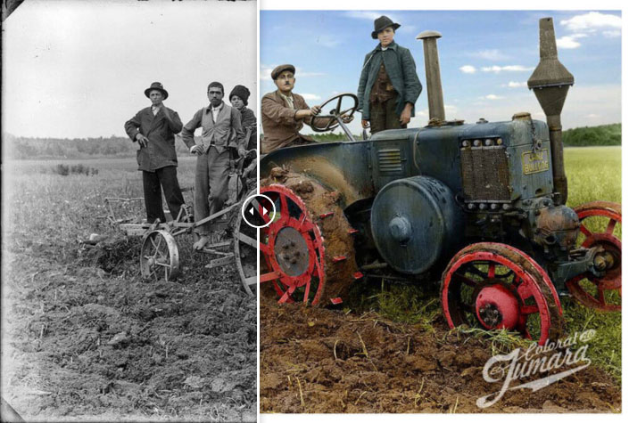 Romania rurala interbelica in fotografii vechi colorizate