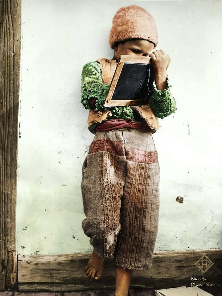 Scolar roman fotografie de presa datata Februarie 1950, Photo Historia editare foto Jumara