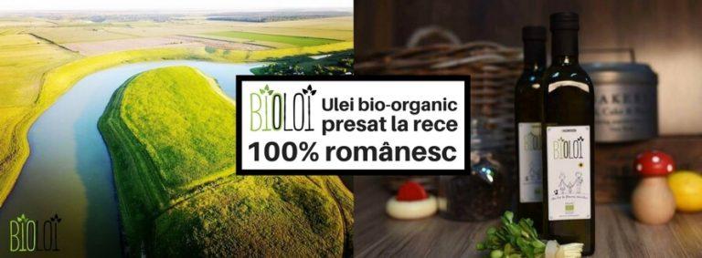 Primul ulei bio-organic romanesc, Ulei presat la rece bio floarea soarelui BIOLOI, ulei organic din seminte romanesti